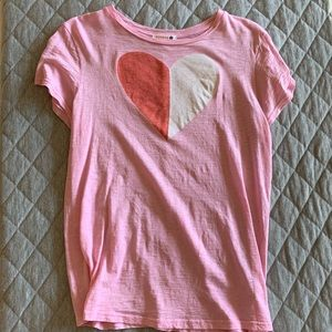 Sundry soft pink heart t-shirt